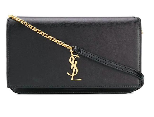 Item - Uptown Mini Textured-leather Black Leather Cross Body Bag
