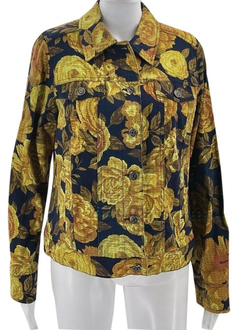 Item - Yellow Live Women's with Floral Pri Jacket Size 10 (M)
