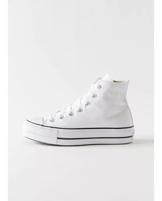 Item - White Chuck Taylor All Star Canvas Platform High Top Sneakers Size US 7.5 Regular (M, B)