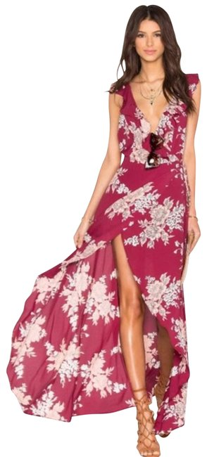 Item - Red Fillmore Floral S Casual Maxi Dress Size 4 (S)