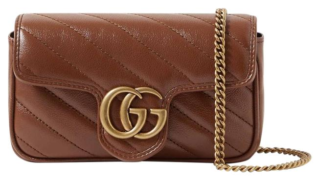 Item - Shoulder Marmont Gg Super Mini Quilted Leather Tan Cross Body Bag