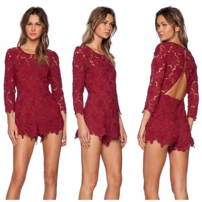 Item - Red Peony Lace -taylor Swift Romper/Jumpsuit
