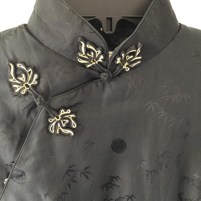Other China Warm Winter Fall Quilted Asian * Black with Gold Accent * Padded Jacket Image 2