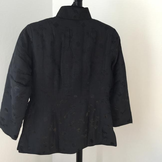 Other China Warm Winter Fall Quilted Asian * Black with Gold Accent * Padded Jacket Image 4