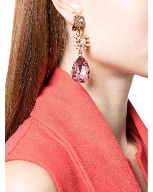 Item - Red Crystal Statement Ear Clips Earrings