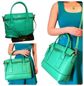 Kate Spade Nwt New Coach Satchel in Green Carmen
