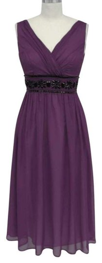 Purple Chiffon Goddess Beaded Waist /4x Casual Dress Size 28 (Plus 3x)