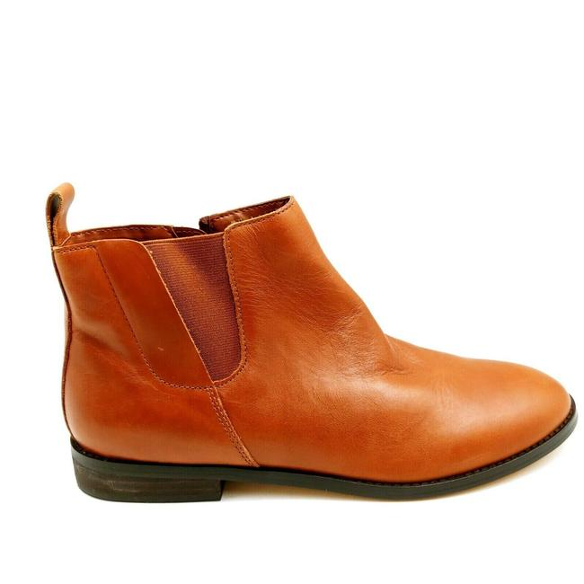Item - Brown Womens Ankle Zipper Elastic Gusset Cushioned Boots/Booties Size US 10 Regular (M, B)
