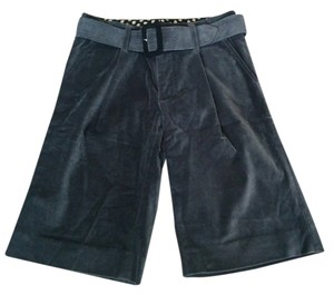 Marc by Marc Jacobs Velvet Culotte High-waisted Capris gray