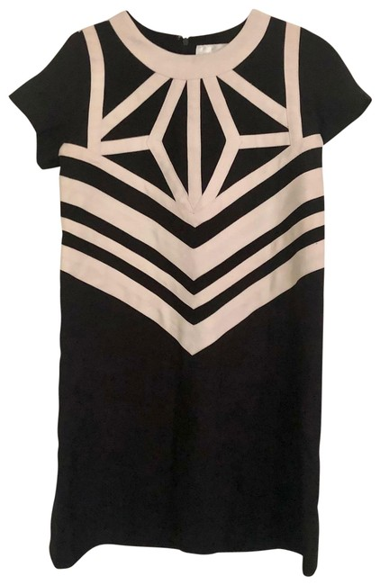 Item - Black and Ivory Mod Short Casual Dress Size 0 (XS)