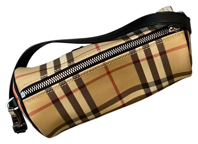 Item - Barrel Iconic Black Tan with Red Stripe Leather Baguette