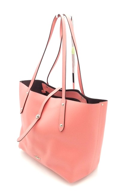Item - Market Coral Peach 55849 Pink Leather Tote