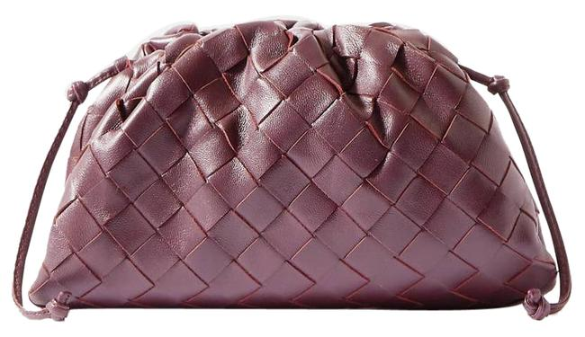 Item - The Pouch Small Gathered Intrecciato Leather Brown Clutch