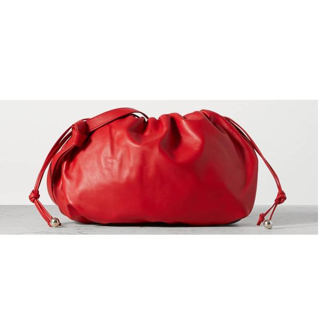 Item - The Medium Bulb Gathered Leather Red Tote