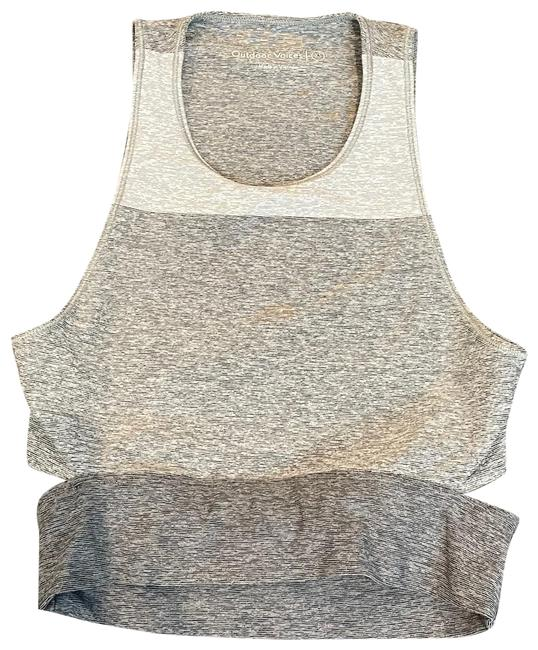 Item - Gray Cropped Workout Tank Maternity Activewear Size 0 (XS)