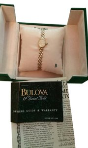 Bulova Bulova 14k gold watch, 95T18. with Cabochon Crown 14K and 14k Gold Bracelet