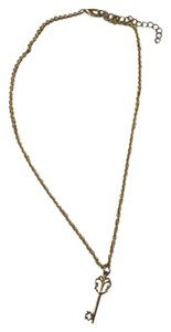Key Charm Gold Necklace