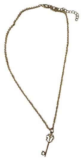Other Key Charm Gold Necklace
