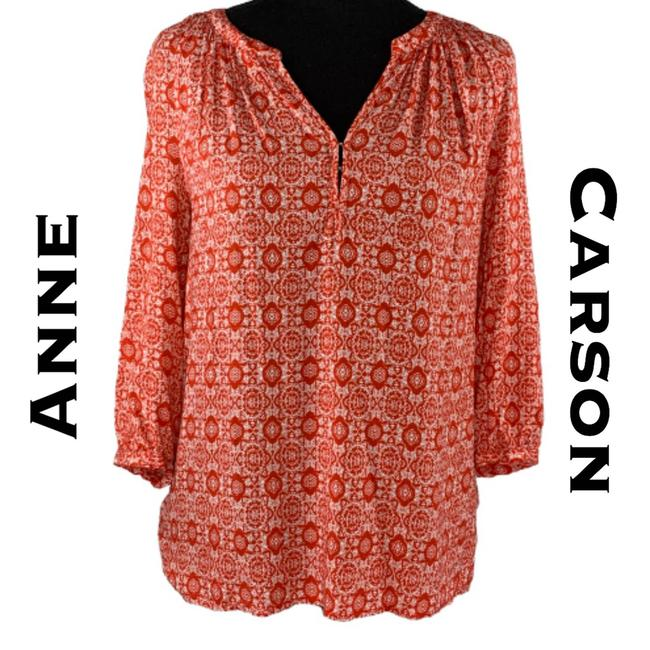 Item - Red 1/2 Sleeve Tunic Blouse Size 8 (M)