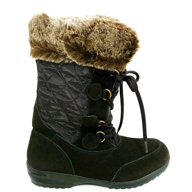 Item - Brown Womans Renata Mid Calf Snow Lace Up Front S Boots/Booties Size US 9 Regular (M, B)