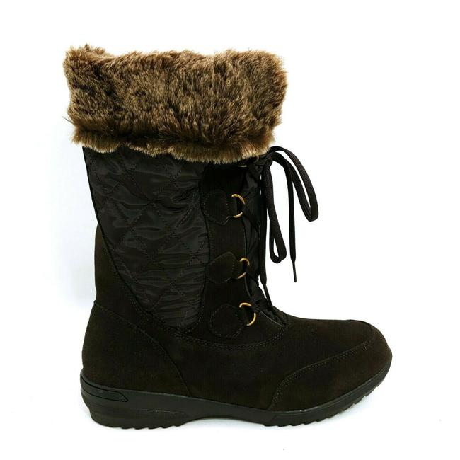 Item - Brown Womans Renata Mid Calf Snow Lace Up Front S Boots/Booties Size US 9.5 Regular (M, B)
