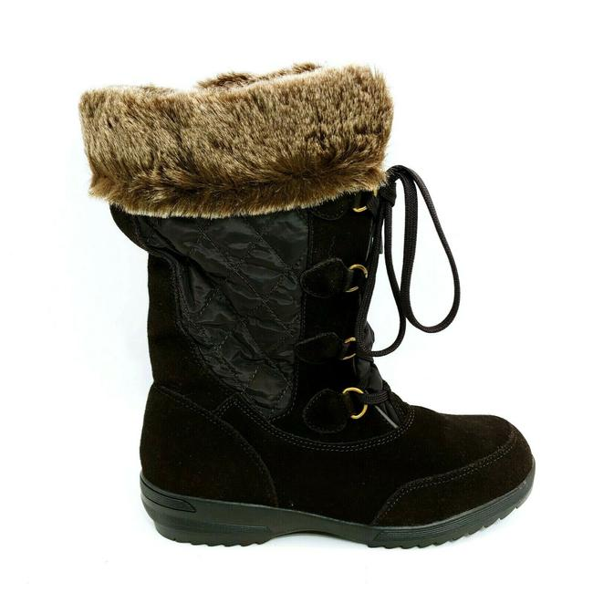 Item - Brown Womans Renata Mid Calf Snow Lace Up Front S Boots/Booties Size US 7 Regular (M, B)