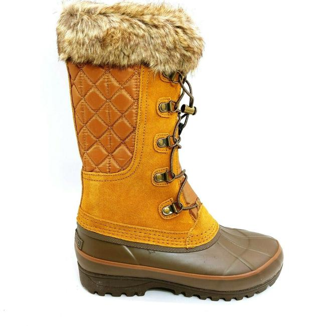 Item - Brown Womans Alpine Mid Calf Snow Tan Lace Up Fro Boots/Booties Size US 6 Regular (M, B)