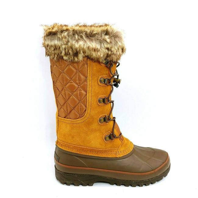 Item - Brown Womans Alpine Mid Calf Snow Tan Lace Up Fro Boots/Booties Size US 8 Regular (M, B)
