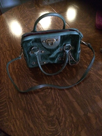 Isabella Fiore Satchel in Forest Green