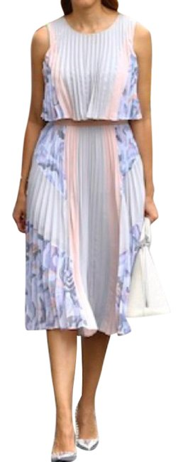 Item - Multicolor XS Pleated Ola Midi A-line Mid-length Night Out Dress Size 0 (XS)