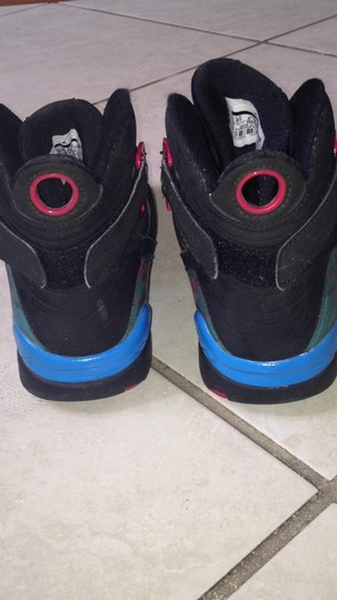 Air Jordan Black, Blue, and Bright Red Athletic