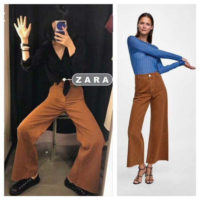 Item - Rusty Brown Medium Wash Marine Straight High Waisted Us 10 Trouser/Wide Leg Jeans Size 30 (6, M)