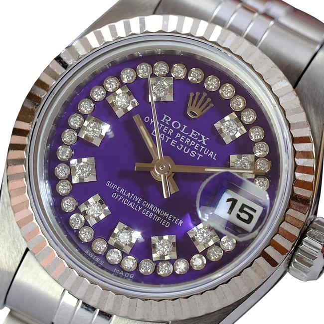 Item - Purple Box W Lady Datejust Ss Diamond Dial Fluted 26mm & Papers Watch