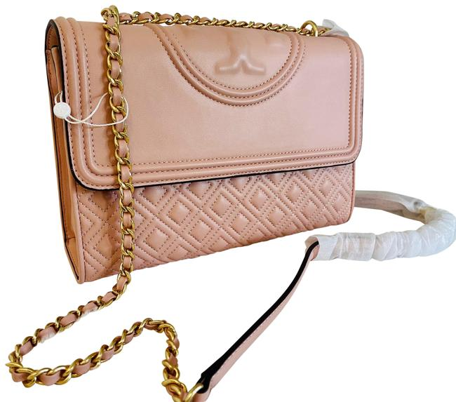 Item - Fleming Quilted Convertible Shell Pink Lambskin Leather Shoulder Bag