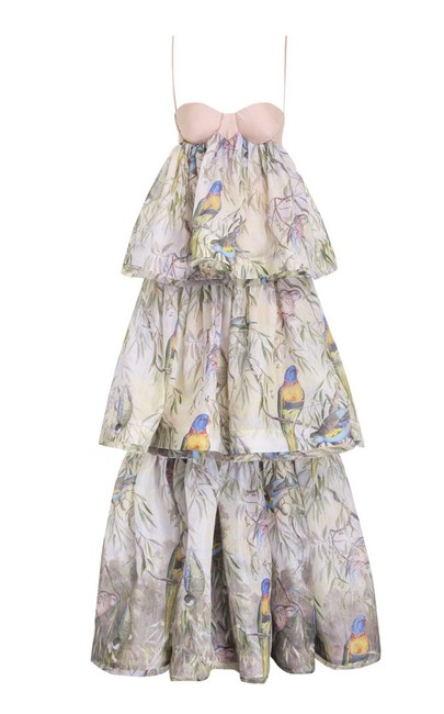 Item - Multicolor Candescent Tiered Long Casual Maxi Dress Size 4 (S)