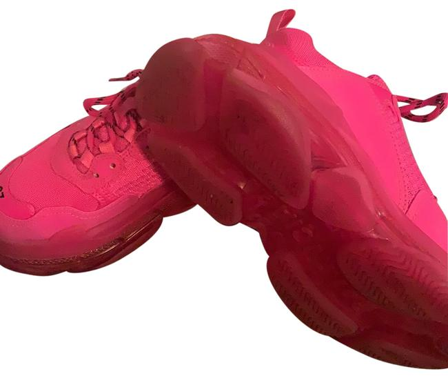 Item - Hot Pink Triple S Clear Sole Sneakers Size EU 37 (Approx. US 7) Regular (M, B)