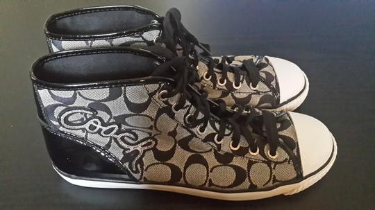 Coach High Top Sneakers Black and white Athletic
