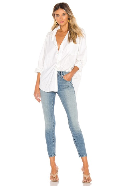 Item - Blue Light Wash Looker Crop In Rice & Skinny Jeans Size 10 (M, 31)
