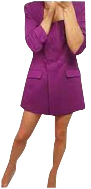 Item - Purple L Double-fabric Playsuit New. Night Out Dress Size 12 (L)