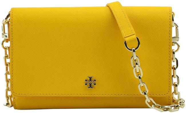 Item - 52899 - Emerson Chain Wallet Small Cassia Yellow Leather Cross Body Bag