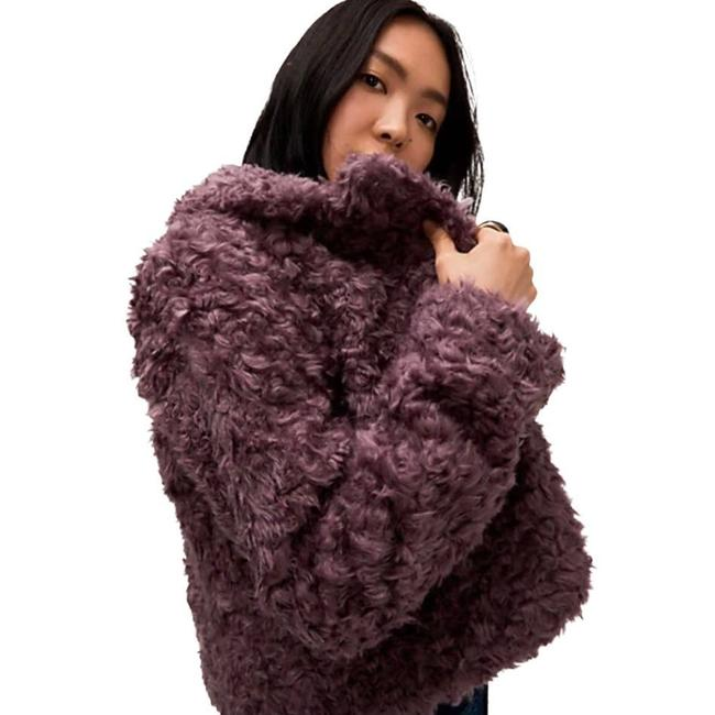 Item - Pink Ny Dark Orchid Cropped Faux Fur Jacket Size 4 (S)