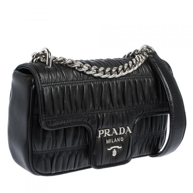Item - Flap Milano Nappa Gaufre Nero with Dustbag Black Leather Cross Body Bag