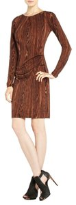 BCBGMAXAZRIA Woodgrain Pencil 75% Off Msrp Dress