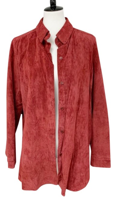 Item - Coral Nf Mimi Suede Shirt Maternity Top Size 12 (L)