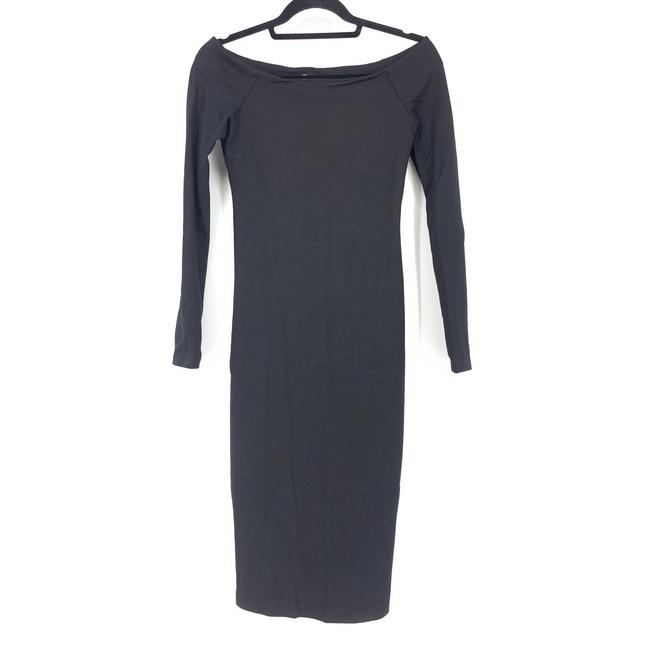 Item - Black Womens Small Bodycon Long Sleeve Mid-length Short Casual Dress Size 4 (S)
