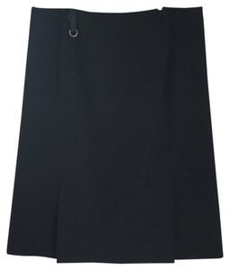 Prada Classic Work Appropriate Designer Skirt Black