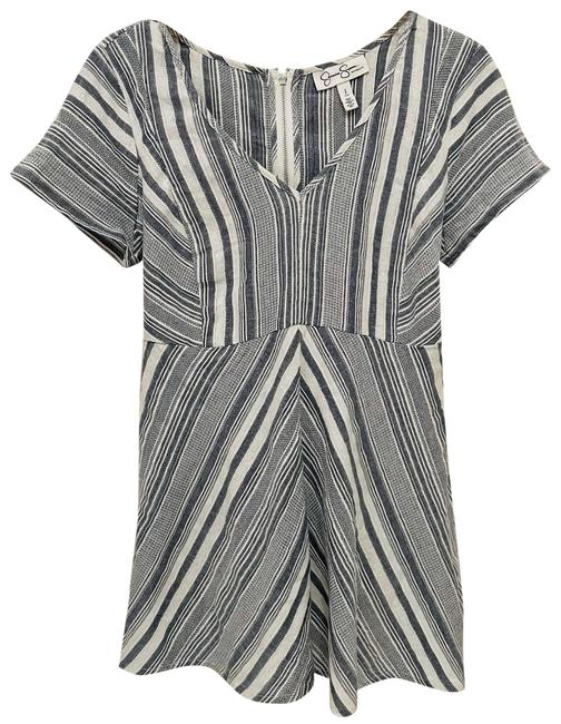 Item - Gray White Abstract A-line Short Casual Dress Size 4 (S)
