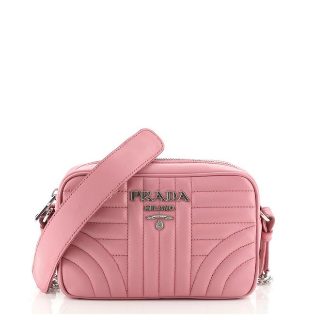 Item - Camera Diagramme Quilted Mini Pink Leather Cross Body Bag
