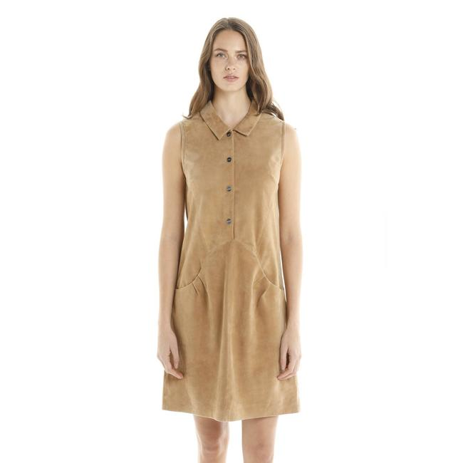 Item - Brown New Sily Shirt Suede Camel 38/M Work/Office Dress Size 8 (M)