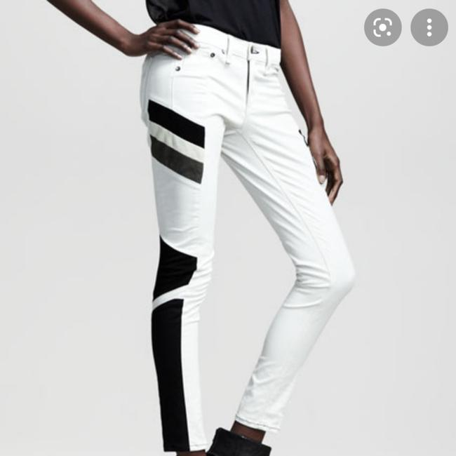 Item - Winter White with Olive Black Accents Halifax W1452o026 Skinny Jeans Size 26 (2, XS)